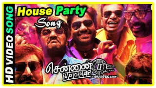 Chennai 600028 II Movie Scenes | House Party song | Sana's parents plan to get her married | Jai