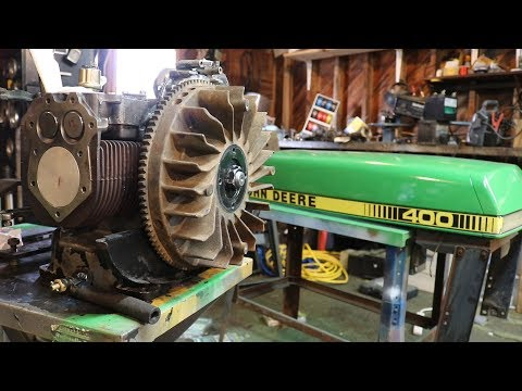 John Deere 400 Garden Tractor Restoration Start To Finish