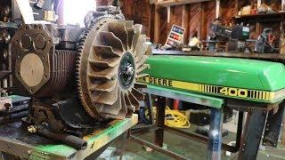 John Deere 400 Garden Tractor Restoration Start to Finish
