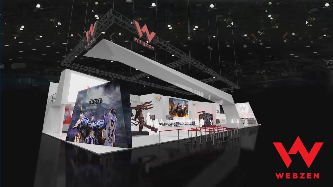 Exhibition Booth Design Concept : Webzen g star booth design concept youtube