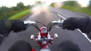 'Stinger Micro' exhaust test on 125cc Monkey Bike