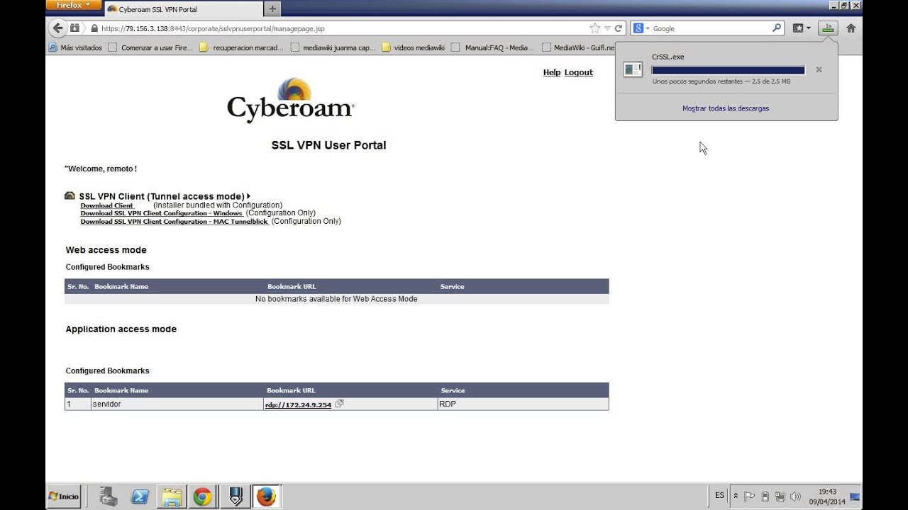 config VPN SSL Cyberoam 2