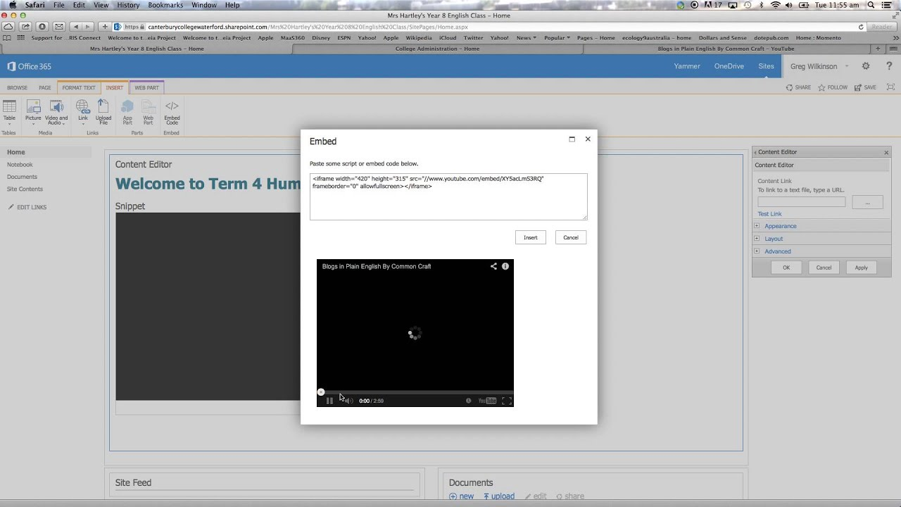 Adding Embedding A Video To An Office 365 Site Convert Ppt To Mp4 How