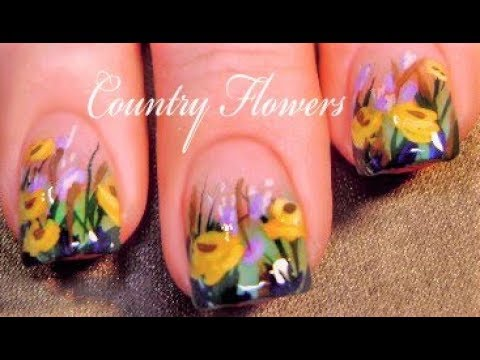 Famous Stick On Nail Polish Thick How To Apply Nail Polish Strips Round Opi Nail Polish Color Names List Toe Nail Fungus Old Disney Princess Nail Polish Set YellowCurrent Nail Polish Colors Spring Flower Nails | DIY Yellow Country Floral Nail Art Design ..