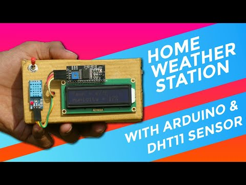 DHT11 WITH LCD I2C HUMIDITY AND TEMPERATURE MONITOR | ARDUINO PROJECT
