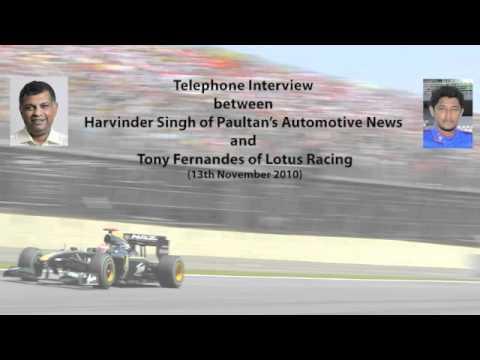 Interview with Tony Fernandes Lotus Racing - Paultan