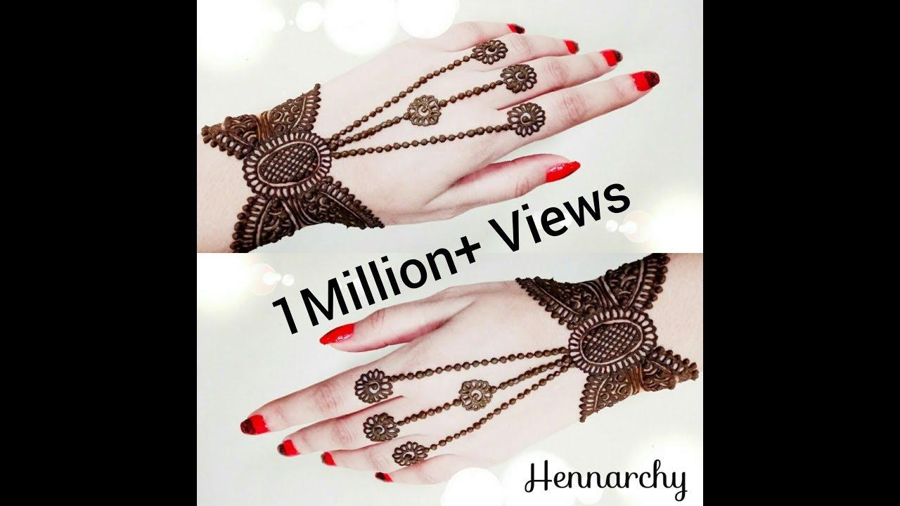 Henna Wrist Bracelet: Bracelet Henna Design 6/20