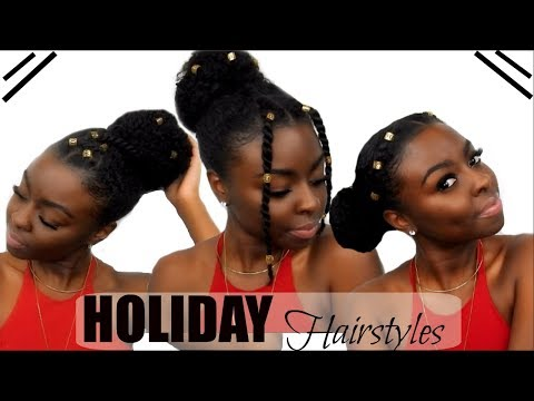 3 Holiday Hairstyles Under 5 Minutes! | Hair Jewel Edition