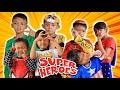 Parodi Lucu!!!Rara dan Superhero Challenge Pie Face   Little princess Rara