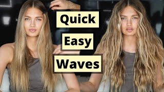 Quick Easy Waves with a Flat Iron | Romee Strijd