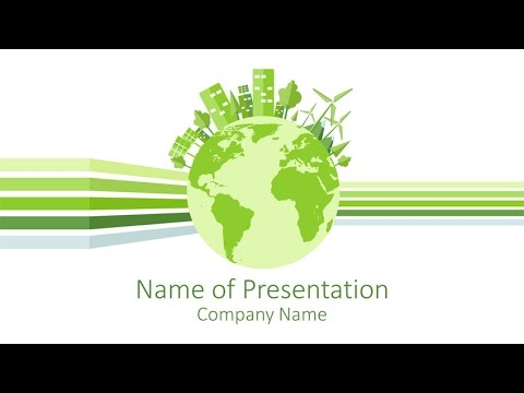 sustainability powerpoint template - youtube, Presentation templates