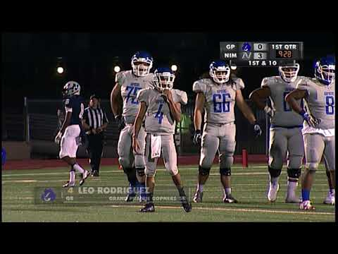 High School Football Grand Prairie vs Nimitz 9 29 17