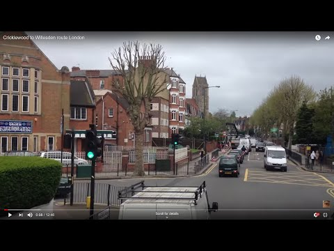 Cricklewood to Willesden route London