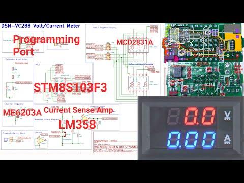 DSN-VC288 Dual Digital Voltmeter Circuit Schematic Ammeter