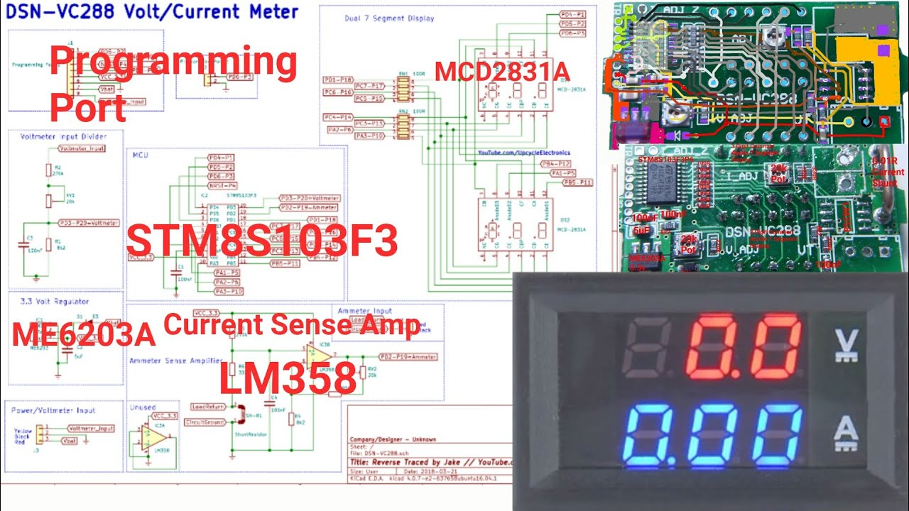 medium resolution of dsn vc288 dual digital voltmeter circuit schematic ammeter volt current meter datasheet 4 100v 10a