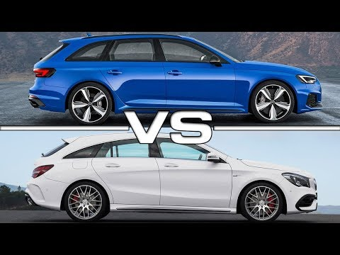 2018 Audi RS4 Avant vs 2017 Mercedes AMG CLA45 Shooting Brake