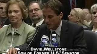 Mental Health Parity Hearing: David Wellstone