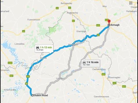 Border Crossings - N54/A3/N54/N12/A3 Cavan to Armagh.