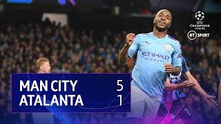 Man City vs Atalanta (5-1)   UEFA Champions League Highlights