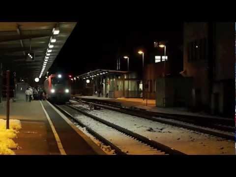 Szenen vom Bahnhof Heidenheim (Brenz) - 26.01.2012
