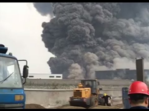 Massive fire at China chemical plant: Insanely huge cloud of smoke covers Hubei province