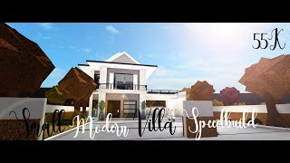 Roblox Bloxburg | Small modern villa speedbuild | 55k