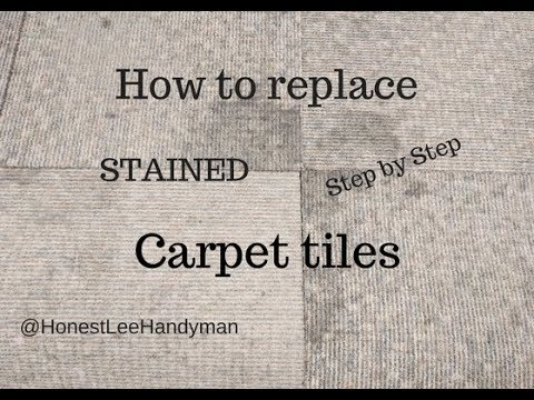 How to remove and replace carpet tiles / Handyman shows how / Step by Step