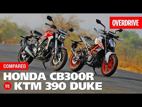 Honda Cb300r Vs Ktm 390 Duke Comparison Test Overdrive
