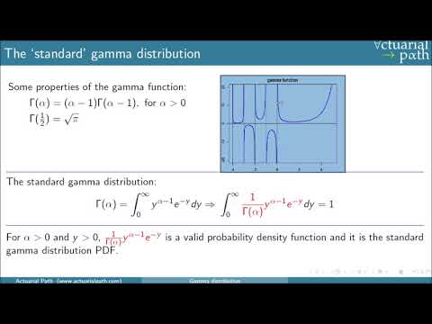 Gamma Distribution Lesson from Actuarial Path