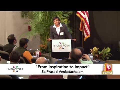 SaiPrasad Venkatachalam on how Syrian kids inspired him to start a NGO | Indiaspora 2017 | Diya TV