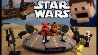STAR WARS The Last Jedi LEGO Movie vs. FNAF Mcfarlane Toys Desert Skiff Five Nights At Freddy's