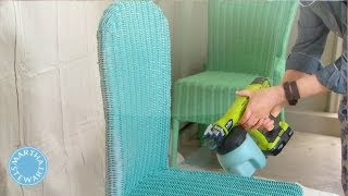 Ask Martha: Spray Painting Wicker Chairs - Martha Stewart