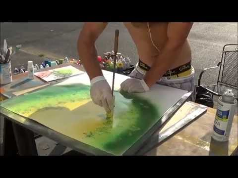 spray paint art august 2015 rainforest real time