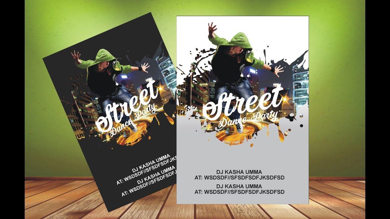 fantastic flyer design dance party coreldraw x6 x7 x8 tutorial