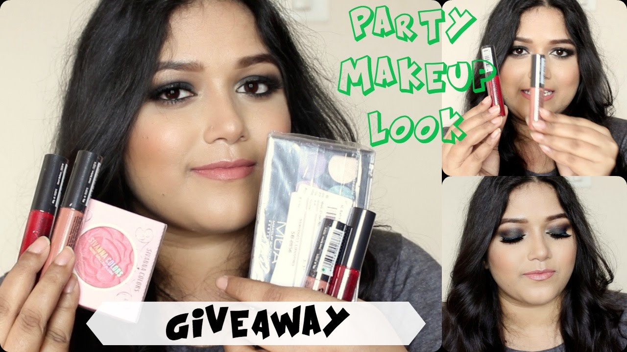 day to night party makeup look  giveaway newyear party