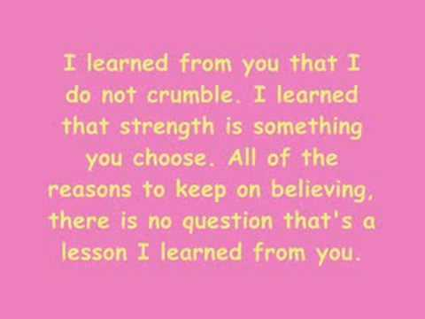 Miley Cyrus And Billy - I Learned From You - Lyrics.