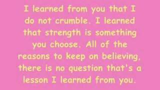 Repeat youtube video Miley Cyrus And Billy - I Learned From You - Lyrics.