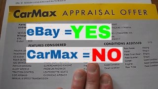 Why to sell a car on eBay vs. getting an