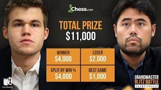 Carlsen vs Nakamura: Full Show, GM Blitz Battle Final