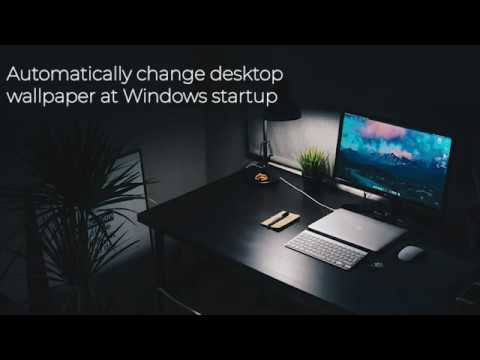 How To Change Desktop Wallpaper Automatically At Each Windows Startup Youtube