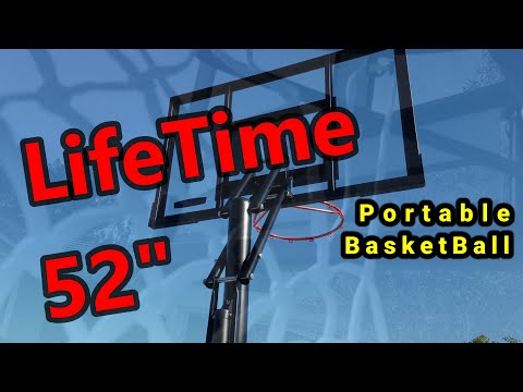 How To Lifetime Power Lift Portable Basketball System Build