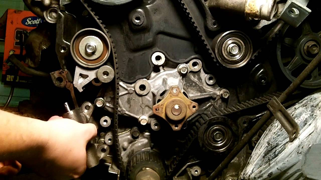 Mazda 626 - V6 Timing Belt & Water Pump Part 1 - YouTubeYouTube