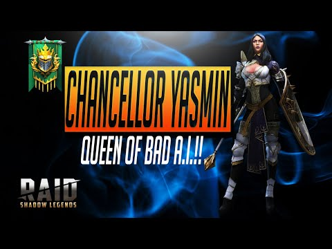 Chancellor Yasmin Guide & Critique AI Nightmare   RAID Shadow Legends