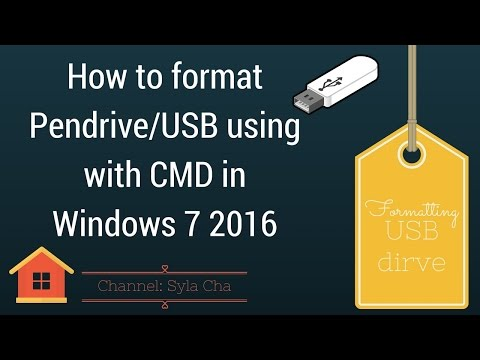 How to format Pendrive/USB using with CMD in Windows 7 2016