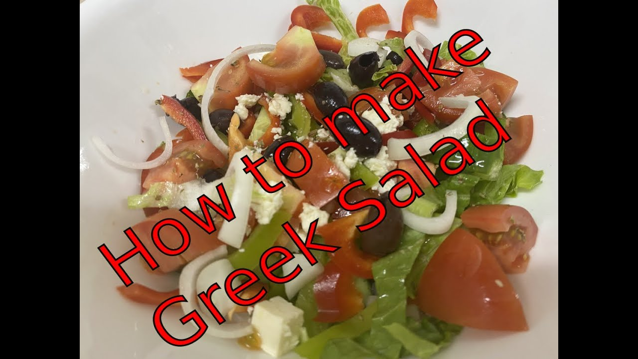 How to make simple Greek salad