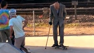 One of TheRoyalStampede's most viewed videos: Grandpa Pranks People at Skate Park!