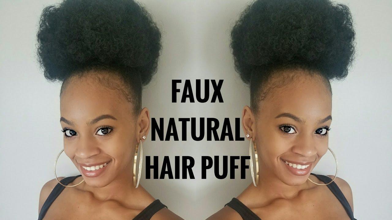 Faux Sleek Puff On Natural Hair