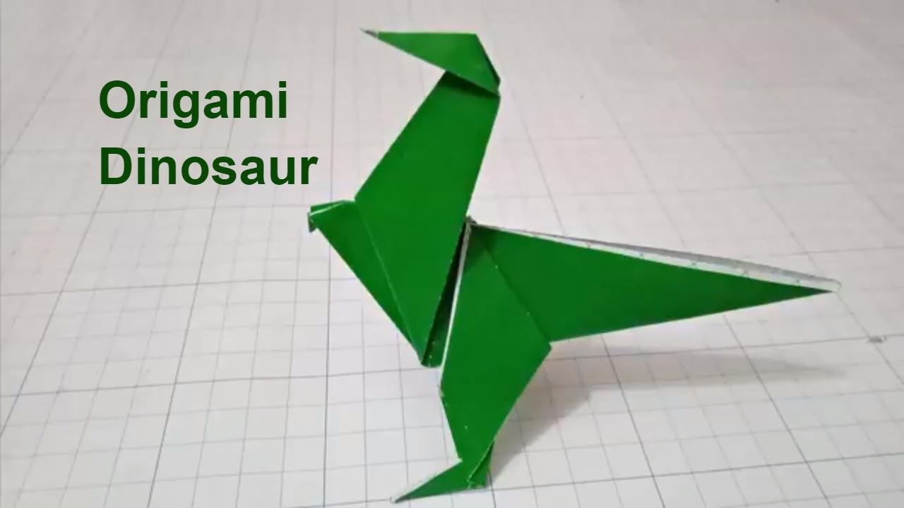 origami dinosaureasy crafts 3d paper dinosaur for kid