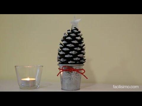 C mo hacer un rbol de navidad con una pi a facilisimo - Arbol de pina ...