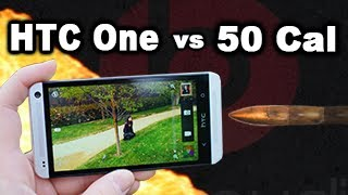 HTC One vs 50 Cal - Drop test / Torture test in slow motion RatedRR Slow Mo - Tech Assassin_ HTC One
